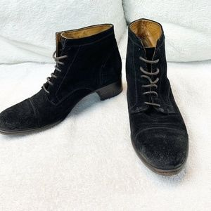 Alberto Fermani Quality Black Suede Lace Up boots